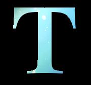 Alphabet Buchstabe T
