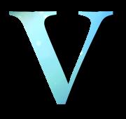 Alphabet Buchstabe V