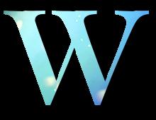 Alphabet Buchstabe W