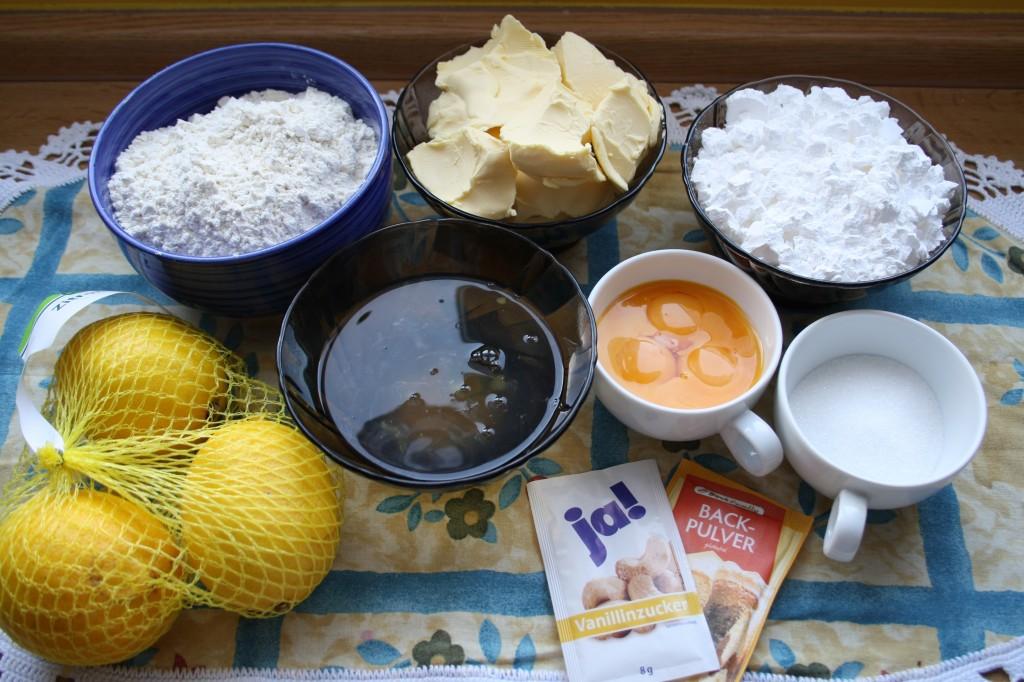 Zutaten Zitronenkuchen