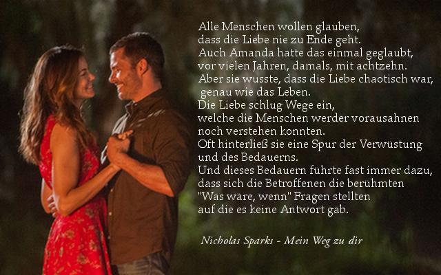 Nicholas Sparks/Mein Weg zu dir Zitat