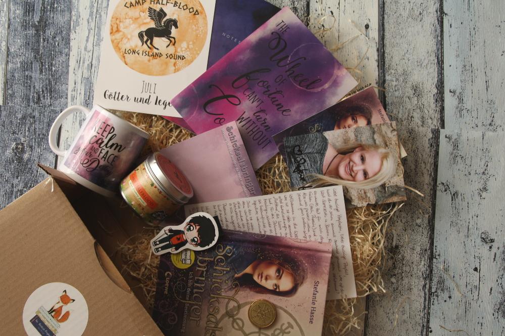The Bookish Prophet Götter und Legenden Juli Box Inhalt Schicksalsbringer Stefanie Hasse komplette Box