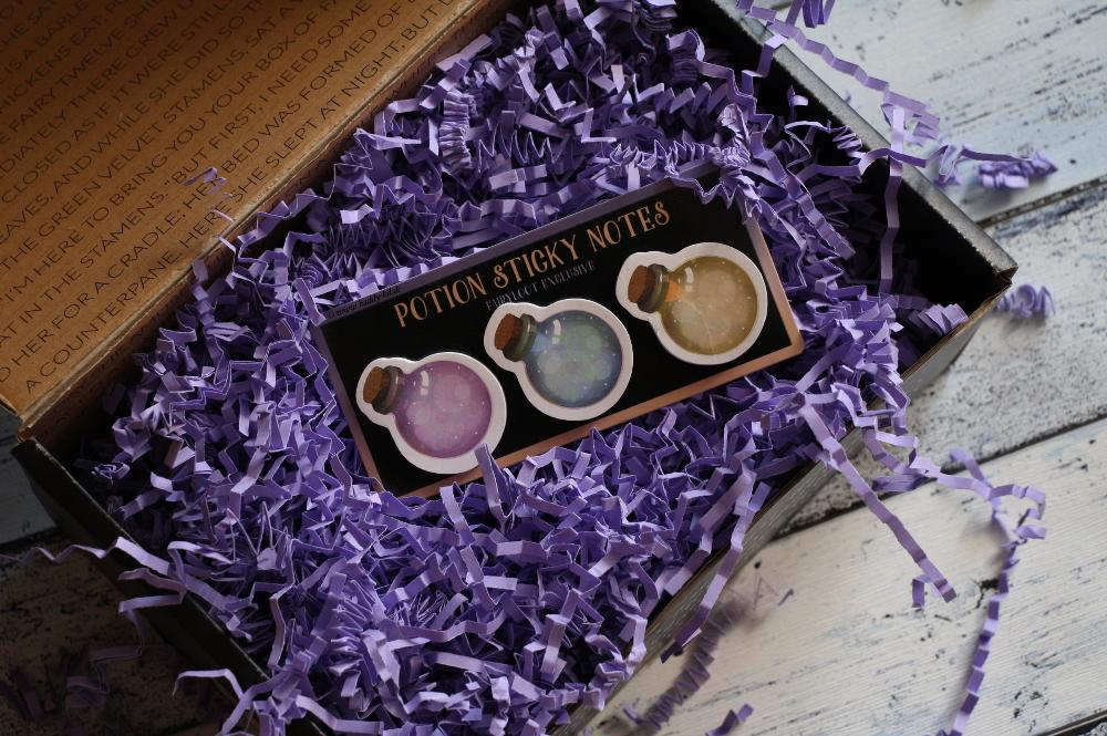 FairyLoot Unboxing Juni 2017 Elementalists Notizzettel