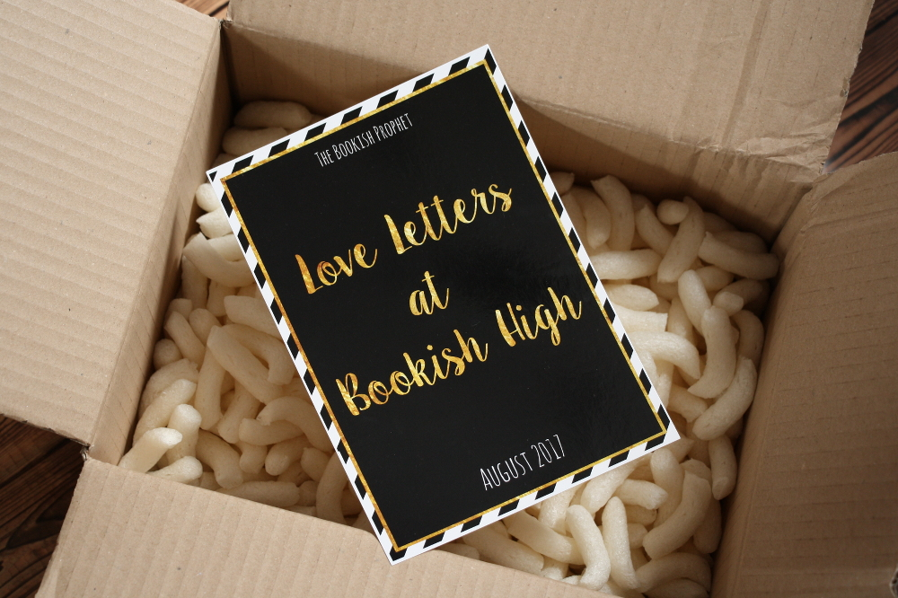 The Bookish Prophet Box August Unboxing / Unpacking Love letters at bookish high