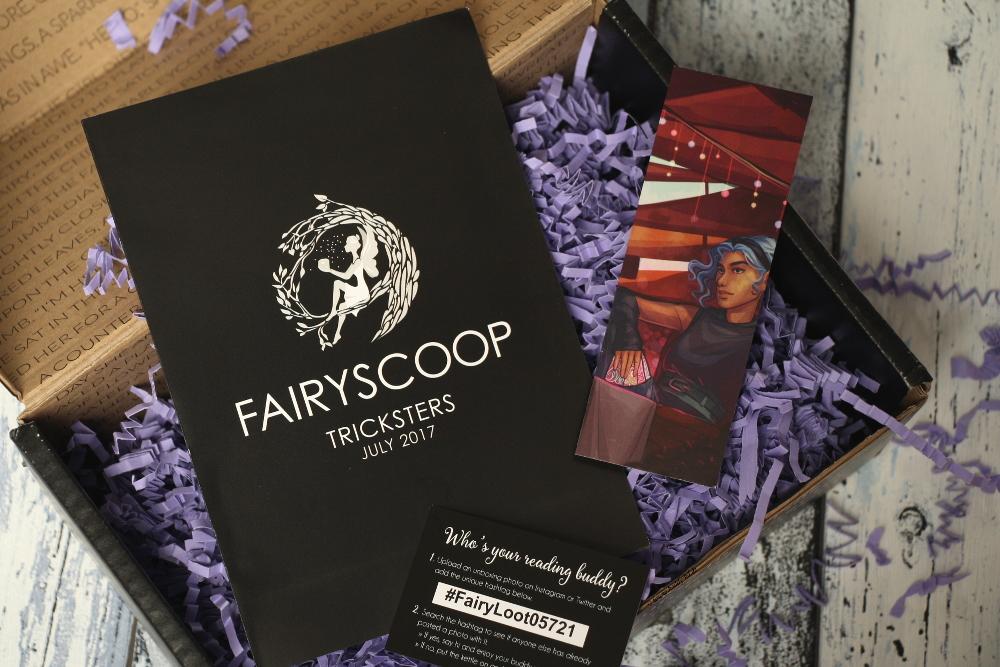 FairyLoot Unboxing Juli 2017 Tricksters FairyScoop Lesezeichen und Reading buddy